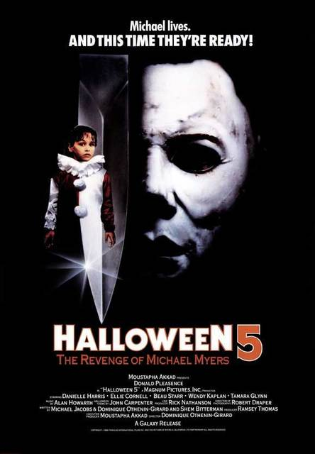 Image result for Halloween 5 Movie Poster
